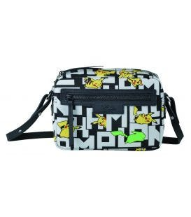 LE PLIAGE COLLECTION POKEMON CROSSBODY BAG BLACK/WHITE