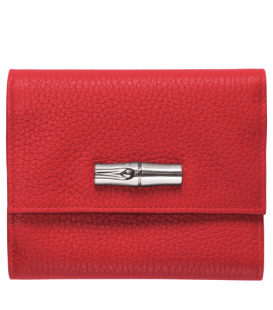 ROSEAU ESSENTIAL COMPACT WALLET RED