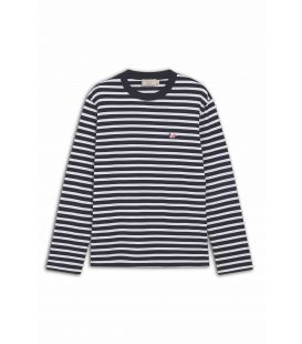 TRICOLOR FOX PATCH CLASSIC MARIN TEE-SHIRT NAVY WHITE