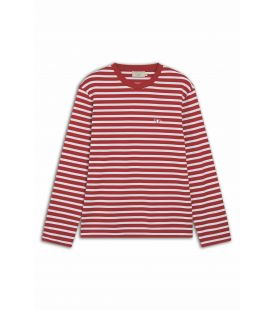 TRICOLOR FOX PATCH CLASSIC MARIN TEE-SHIRT RED WHITE