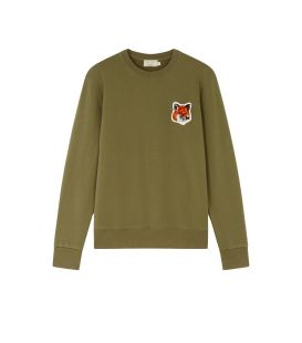 VELVET FOX HEAD PATCH CLASSIC SWEATSHIRT KHAKI