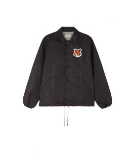 VELVET FOX HEAD PATCH BERTIL WINDBREAKER BLACK