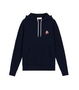 BOXING FOX PATCH CLASSIC HOODIE NAVY