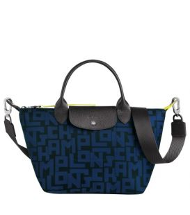 LE PLIAGE LGP TOP HANDLE BAG S BLACK/NAVY