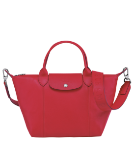 LE PLIAGE CUIR TOP HANDLE BAG S RED KISS