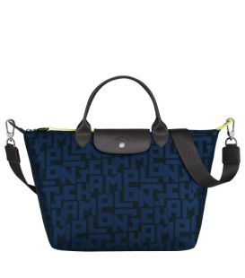 LE PLIAGE LGP TOP HANDLE BAG M BLACK/NAVY