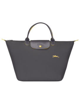 LE PLIAGE CLUB TOP HANDLE BAG M GUN METAL