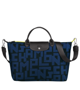 LE PLIAGE LGP TOP HANDLE BAG L BLACK/NAVY