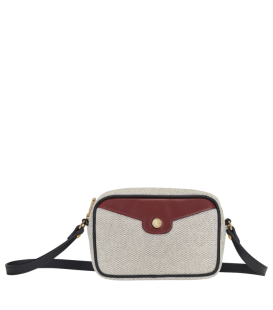 MADEMOISELLE LONGCHAMP TOILE CROSSBODY BAG ECRU