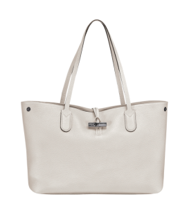ROSEAU ESSENTIAL SHOULDER BAG M TALC