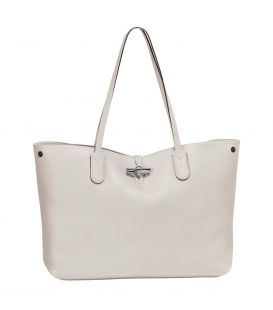 ROSEAU ESSENTIAL SHOULDER BAG L TALC